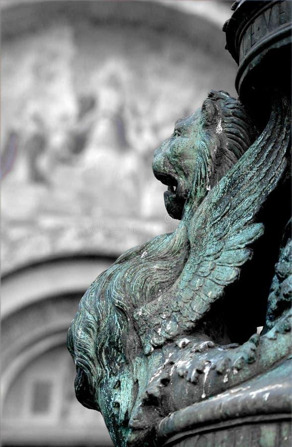 вдоль аркады san venice marco стоковая фотография rf