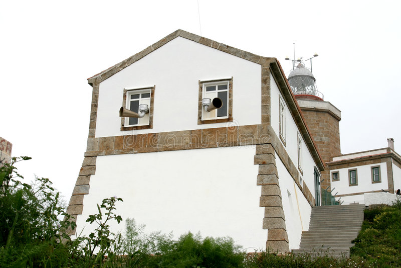 вдоль атлантического океана Испании маяка стоковая фотография rf