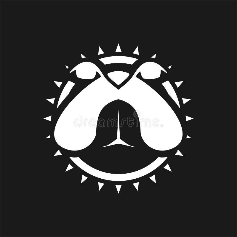 вдохновение логотипа головки bulldog стоковые изображения