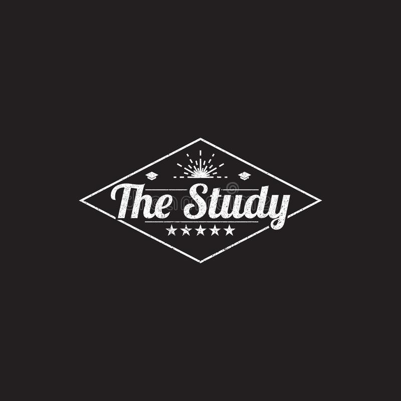 вдохновение на изучение логотипа, дизайн логотипа колледжа, дизайн логотипа ретро иллюстрация вектора