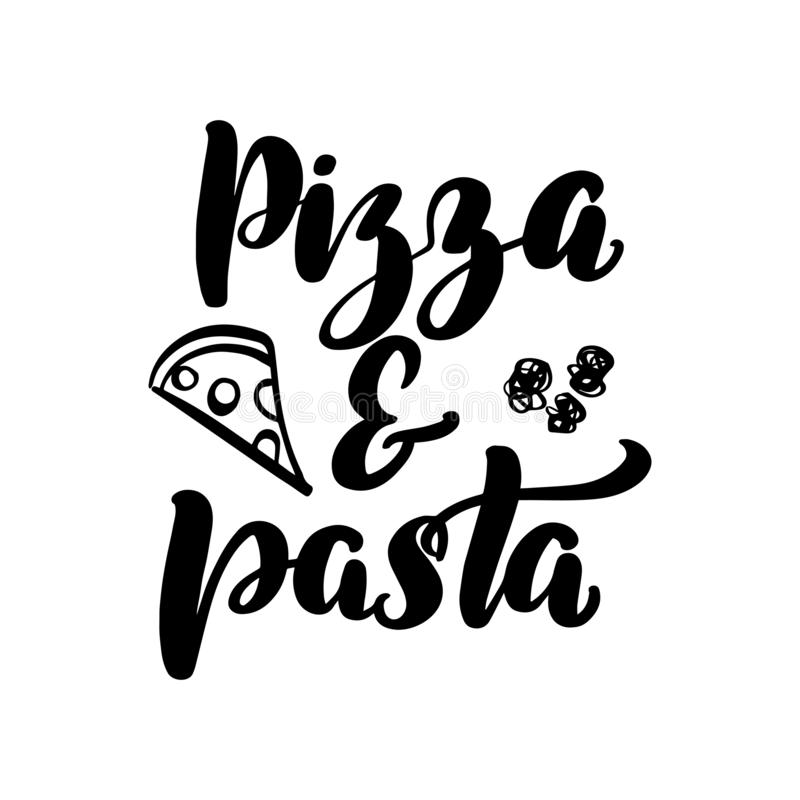 Пицца и макаронные изделия иллюстрация вектора