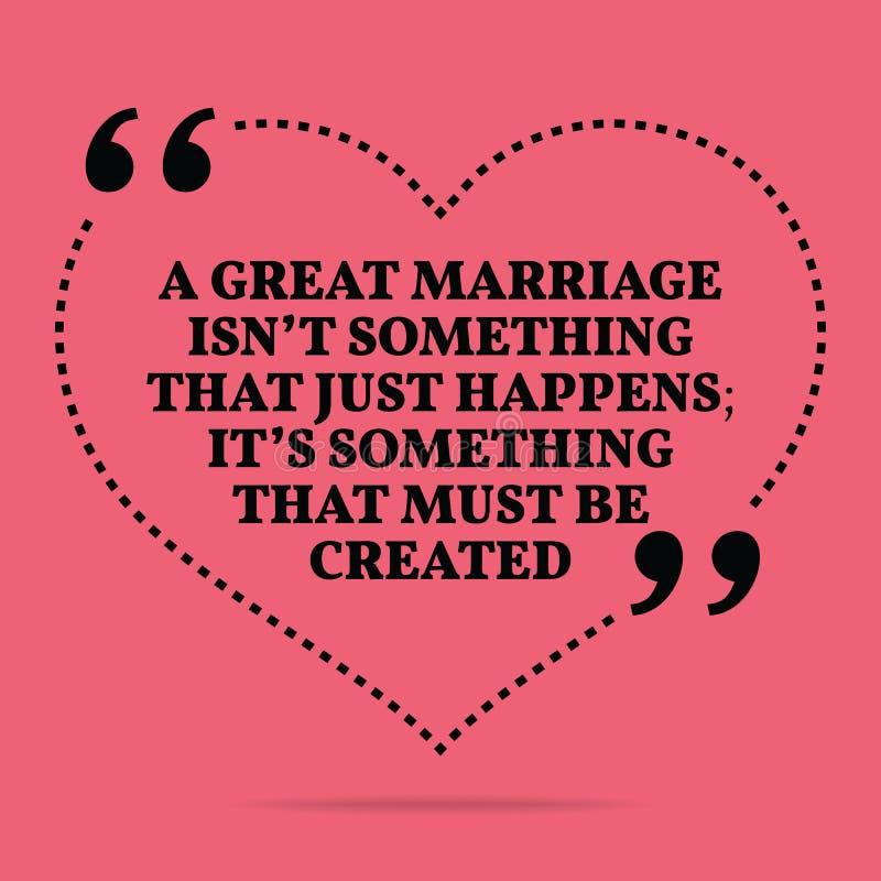 Вдохновляющая цитата замужества влюбленности Большое someth ` t isn замужества бесплатная иллюстрация