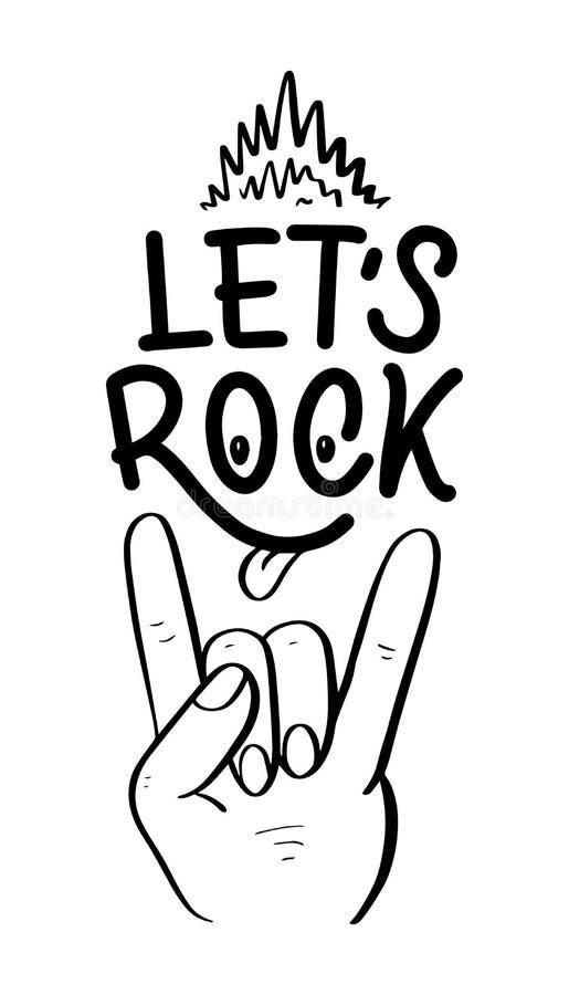 Вдохновляющая цитата о музыке Иллюстрация нарисованная рукой винтажная с литерностью Фраза для печати на футболках и сумках иллюстрация вектора