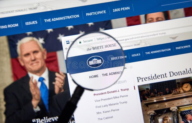 Вебсайт администрации козыря стоковое изображение rf