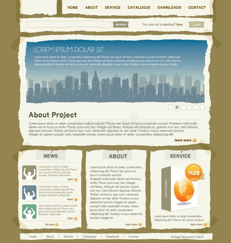 вебсайт вектора шаблона конструкции бесплатная иллюстрация