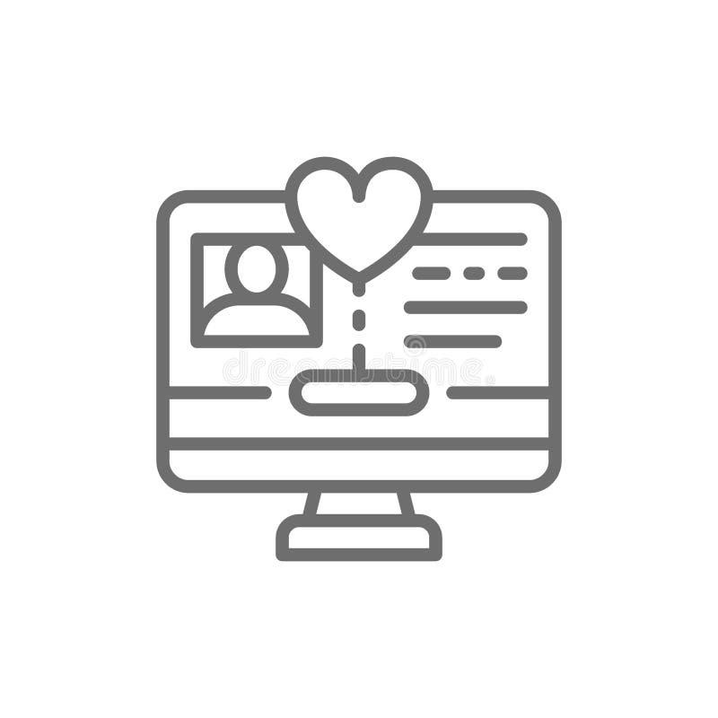 Вебсайт для пожертвований, страница интернета нуждающийся, помощь, вызываясь добровольцем линия значок бесплатная иллюстрация