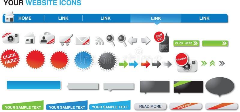 вебсайт икон ваш стоковые фотографии rf