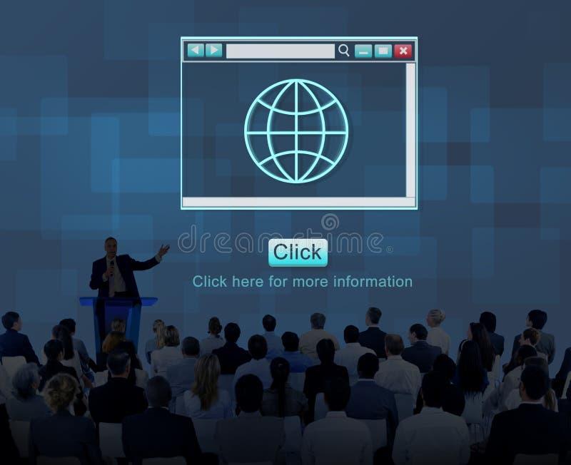 Вебсайт интернета технологии сети онлайн соединяет концепцию стоковые изображения rf
