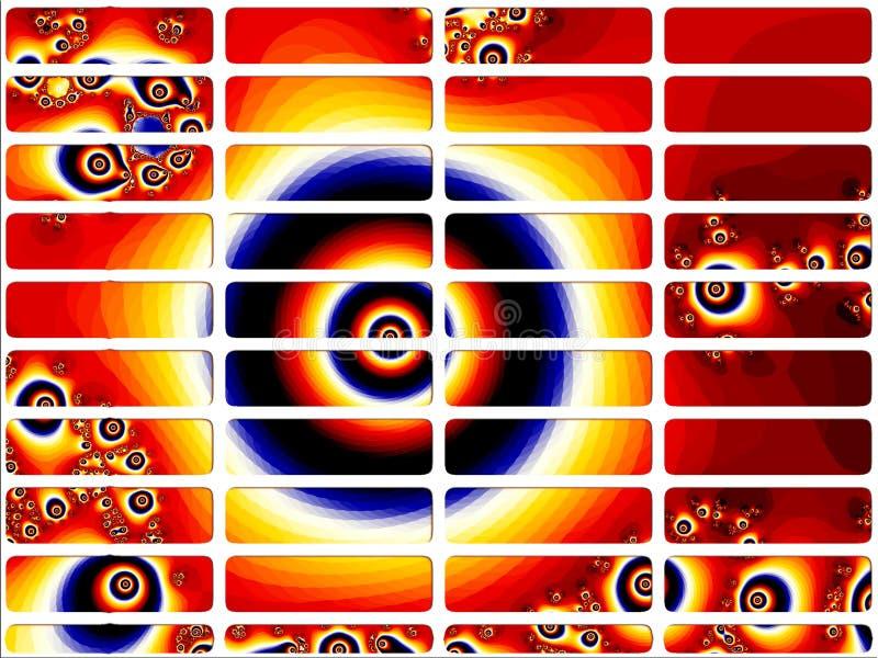 вебсайт красного цвета фрактали глаза кнопок иллюстрация штока