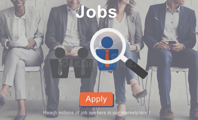 Вебсайт онлайн Conce человеческих ресурсов занятости рекрутства работ иллюстрация вектора