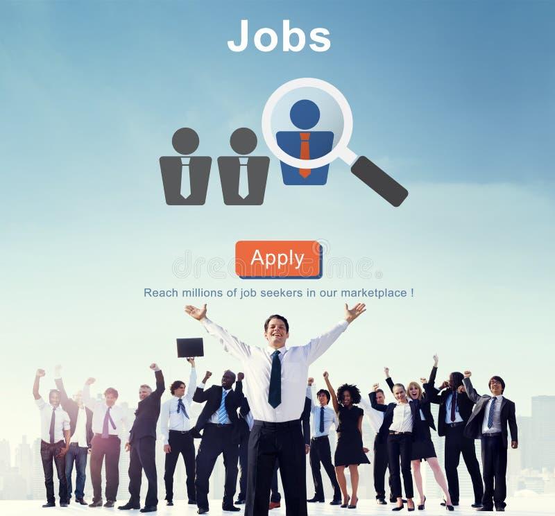 Вебсайт онлайн Conce человеческих ресурсов занятости рекрутства работ стоковое фото