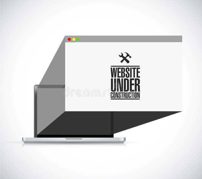 вебсайт под конструкцией оборудует знак браузера бесплатная иллюстрация