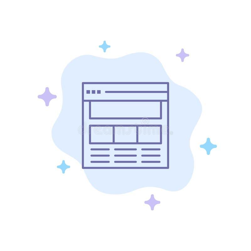 Вебсайт, страница, интерфейс, сеть, онлайн голубой значок на абстрактной предпосылке облака иллюстрация вектора