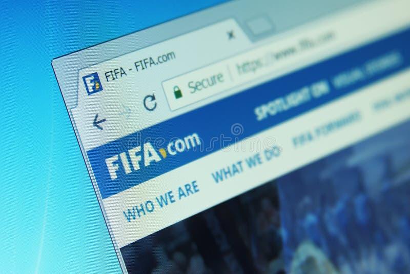 Вебсайт ФИФА стоковые изображения rf