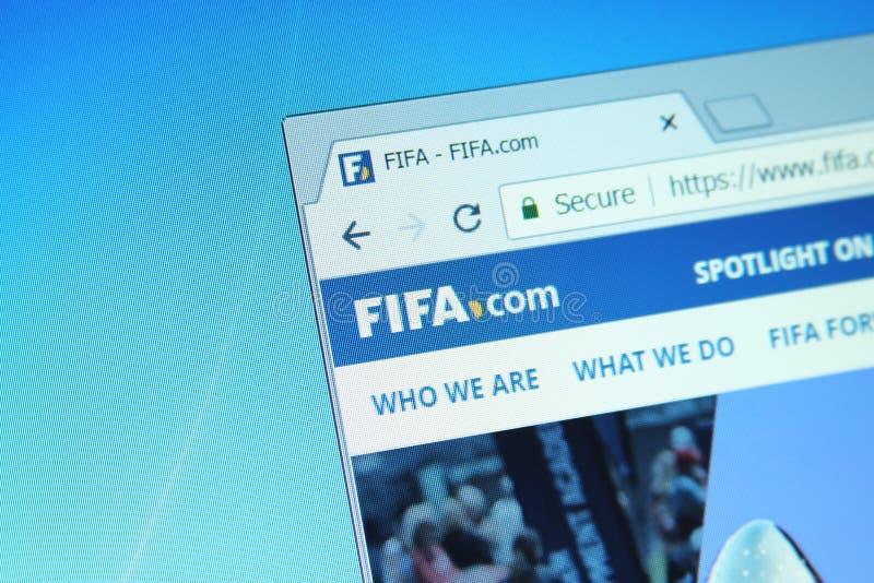 Вебсайт ФИФА стоковые фотографии rf
