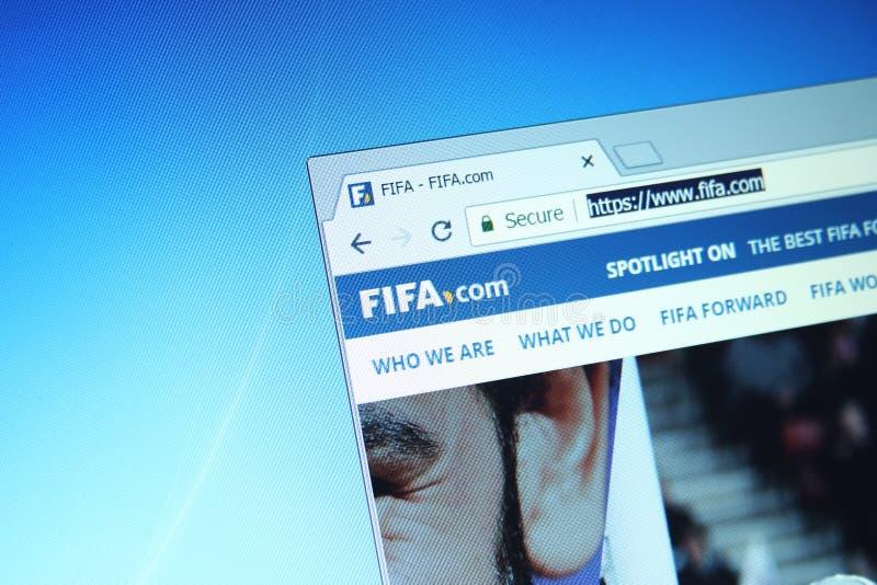 Вебсайт ФИФА стоковое фото