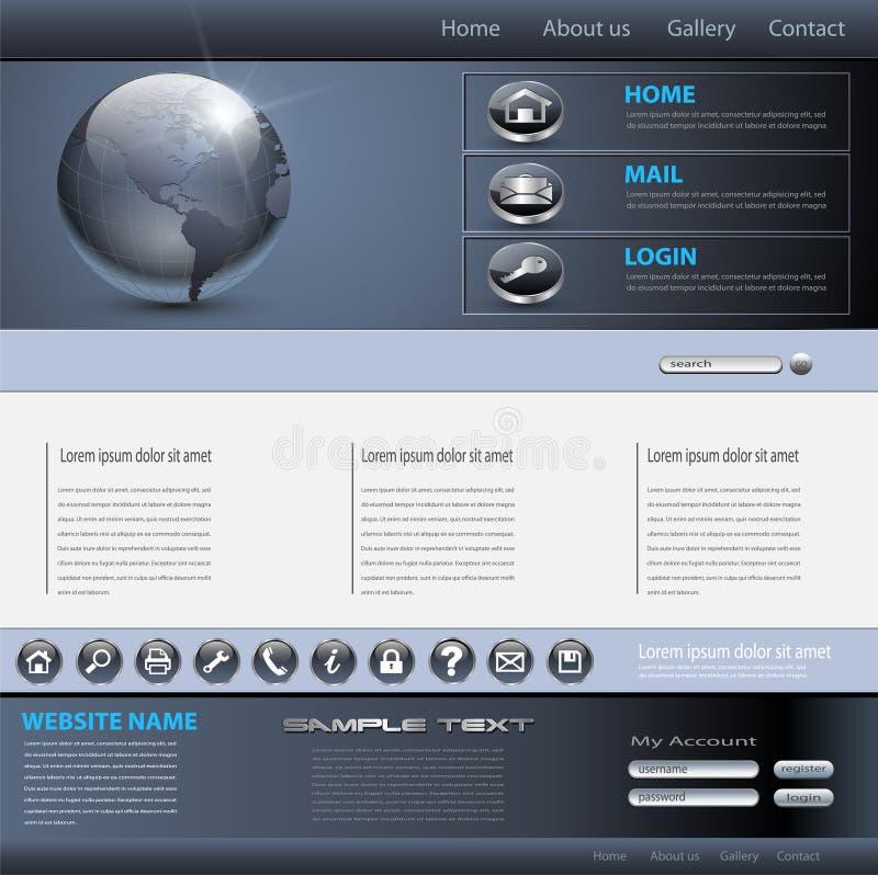 вебсайт шаблона дела иллюстрация вектора
