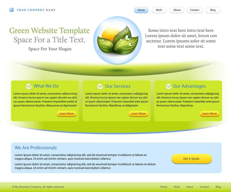 вебсайт шаблона здоровья компании внимательности иллюстрация вектора
