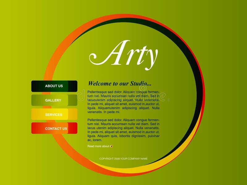 вебсайт шаблона иллюстрация штока