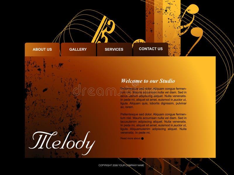 вебсайт шаблона иллюстрация вектора
