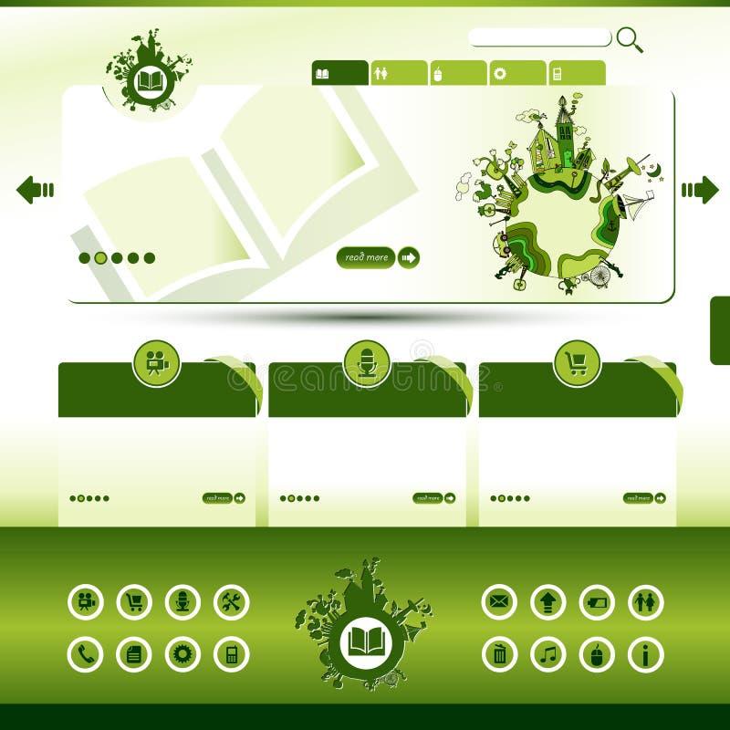 вебсайт шаблона eco зеленый иллюстрация вектора