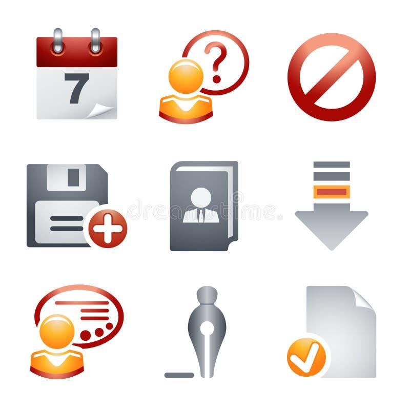 вебсайт 2 икон цвета стоковое изображение rf
