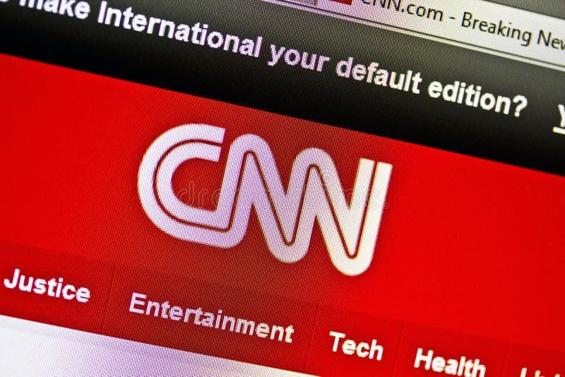 вебсайт cnn стоковое фото