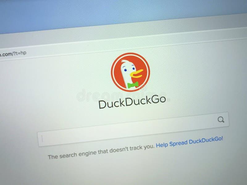 Вебсайт DuckDuckGo стоковая фотография rf