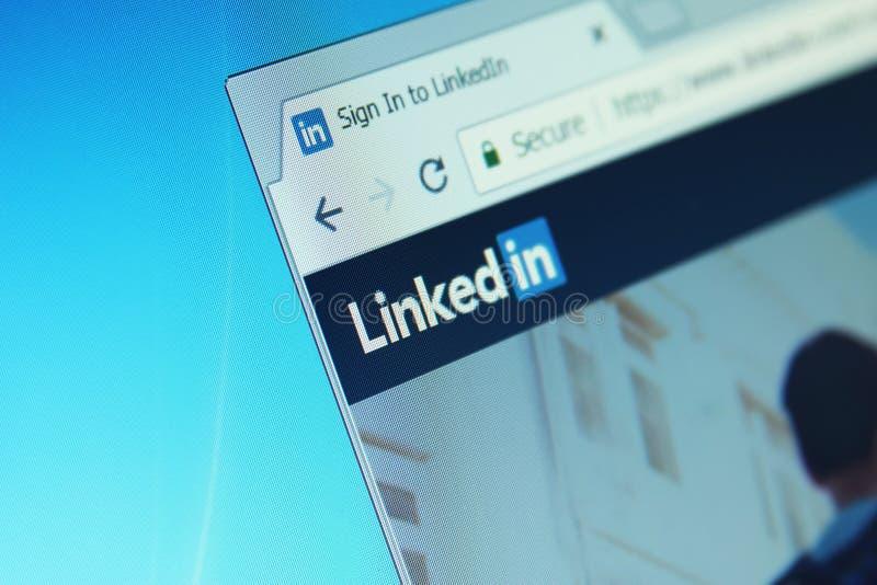 Вебсайт LinkedIn стоковое изображение