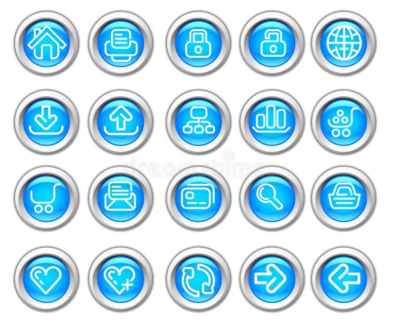 вебсайт silvero лоснистого интернета иконы установленный бесплатная иллюстрация