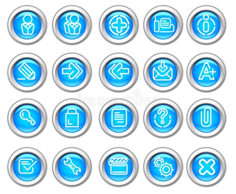 вебсайт silvero лоснистого интернета иконы 2 установленный бесплатная иллюстрация