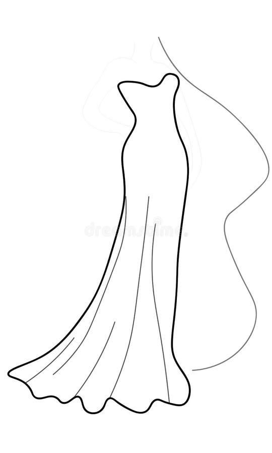 Веб Векторная графика с красивой моделью маленькой девочки для дизайна Мода, стиль, молодость, красота График, чертеж эскиза секс иллюстрация вектора