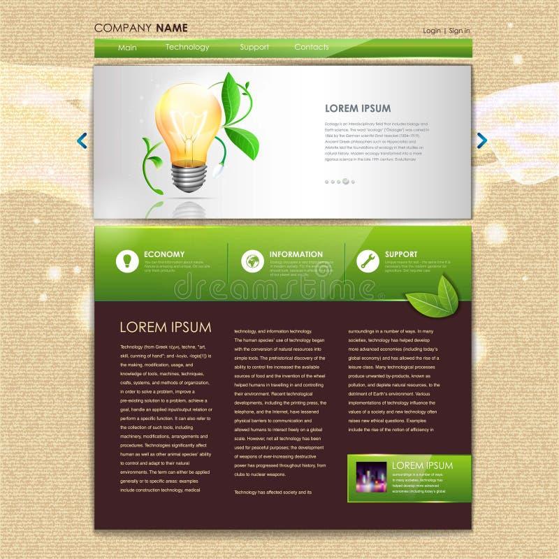 Веб-дизайн. Предпосылка экологичности иллюстрация штока