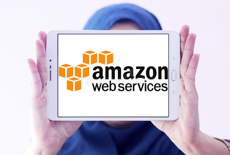 Веб-службы Амазонки, AWS, логотип стоковое изображение