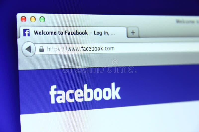 Веб-страница основы Facebook стоковые фото