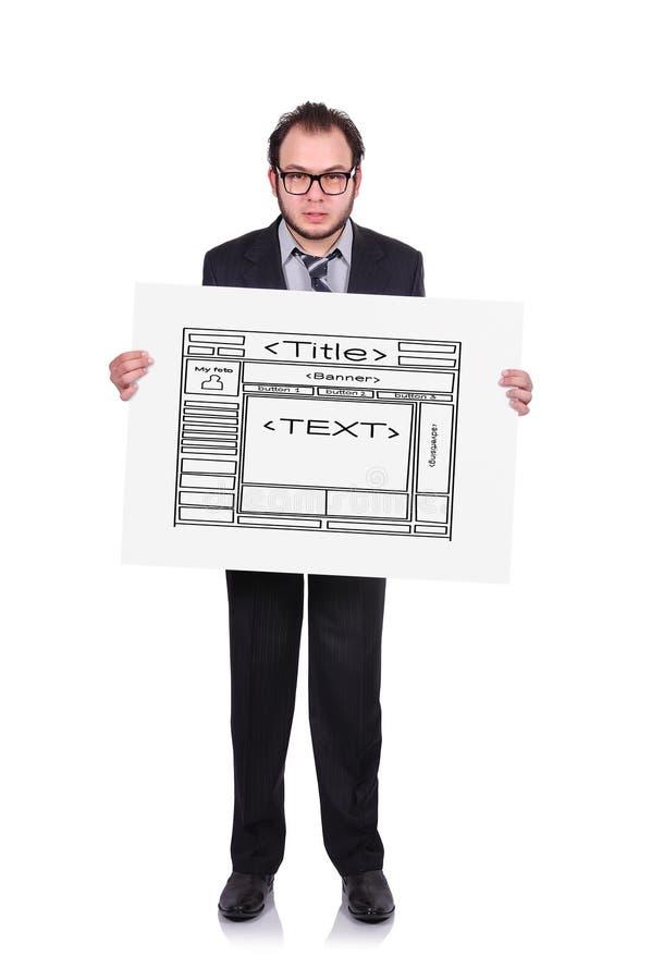 Веб-страница шаблона иллюстрация вектора