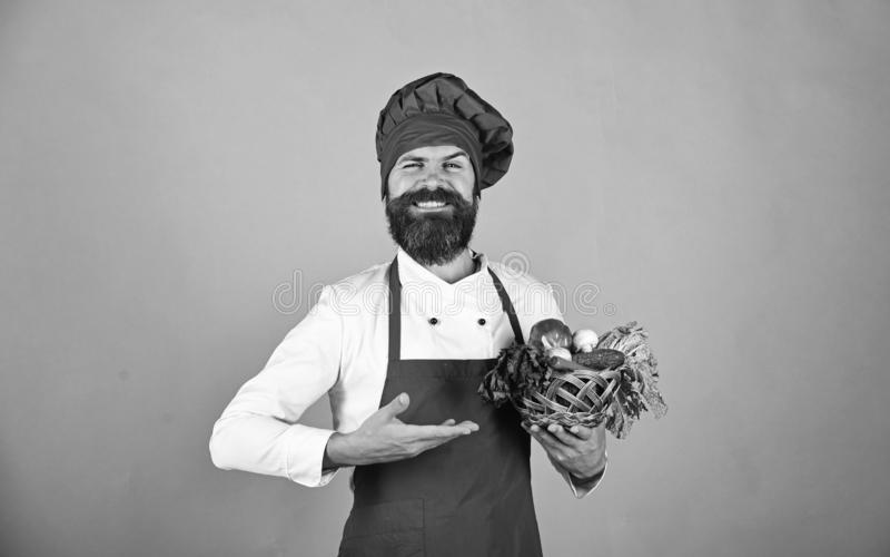 Вегетарианская концепция ресторана Кашевар с счастливой стороной в бургундской форме стоковые изображения rf