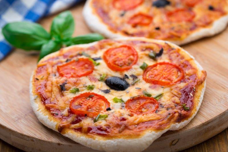 Вегетарианская мини пицца стоковые фото
