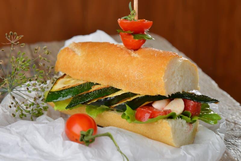 Вегетарианский сандвич стоковое изображение