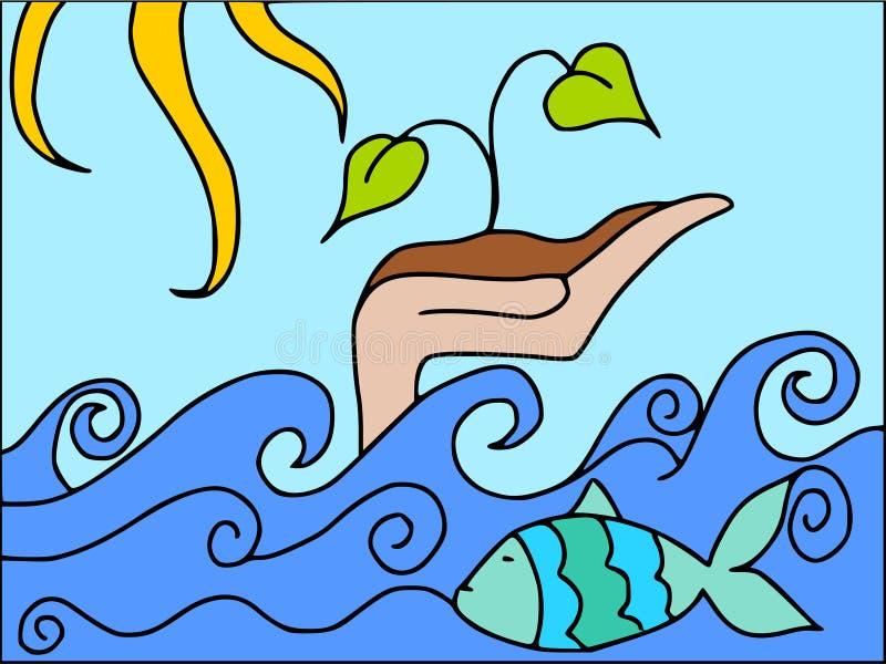 вегетация океана иллюстрация штока