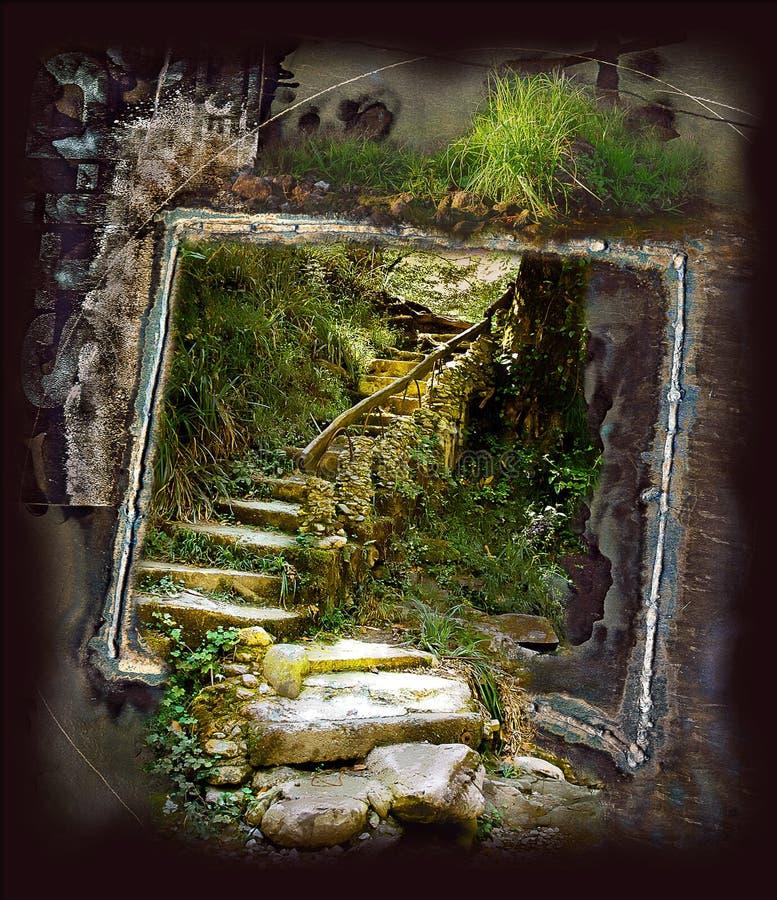 ведущие шаги вверх стоковое фото