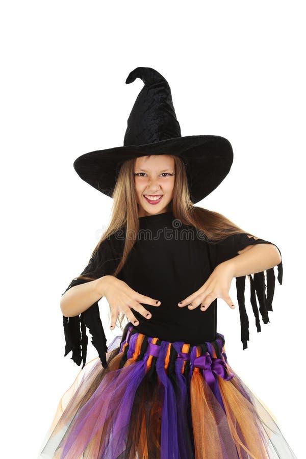 Ведьма девушки стоковая фотография rf