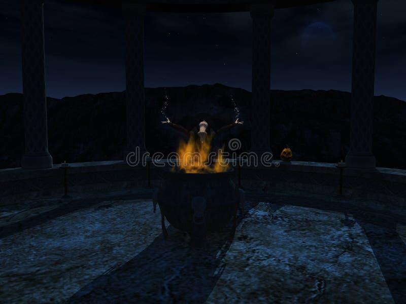 ведьма произношения по буквам ночи отливки иллюстрация штока