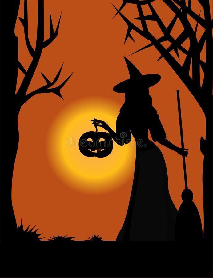 ведьма тыквы бесплатная иллюстрация