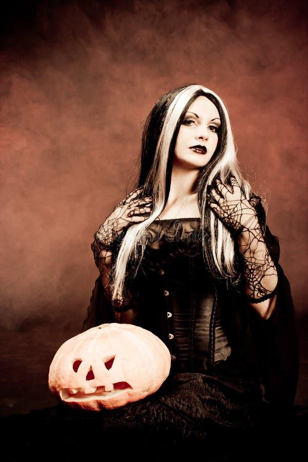 ведьма тыквы halloween стоковое фото rf