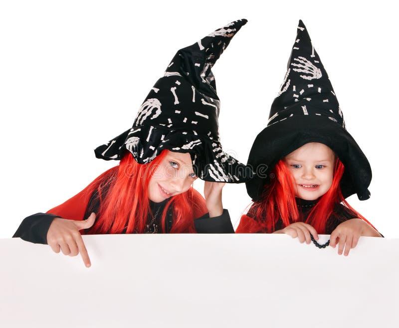 ведьма удерживания ребенка знамени стоковое изображение rf