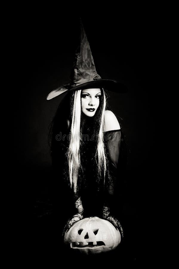 ведьма черепа halloween стоковое фото rf