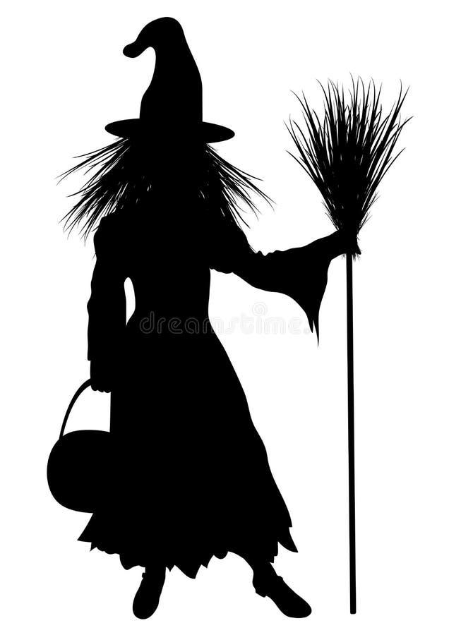 ведьма costume ребенка иллюстрация штока