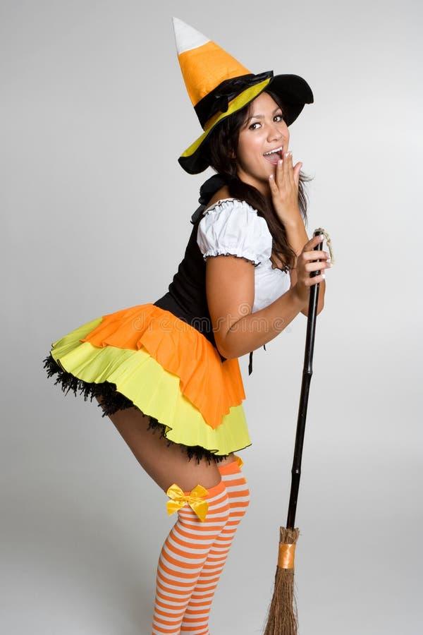 ведьма halloween сексуальная стоковое изображение rf