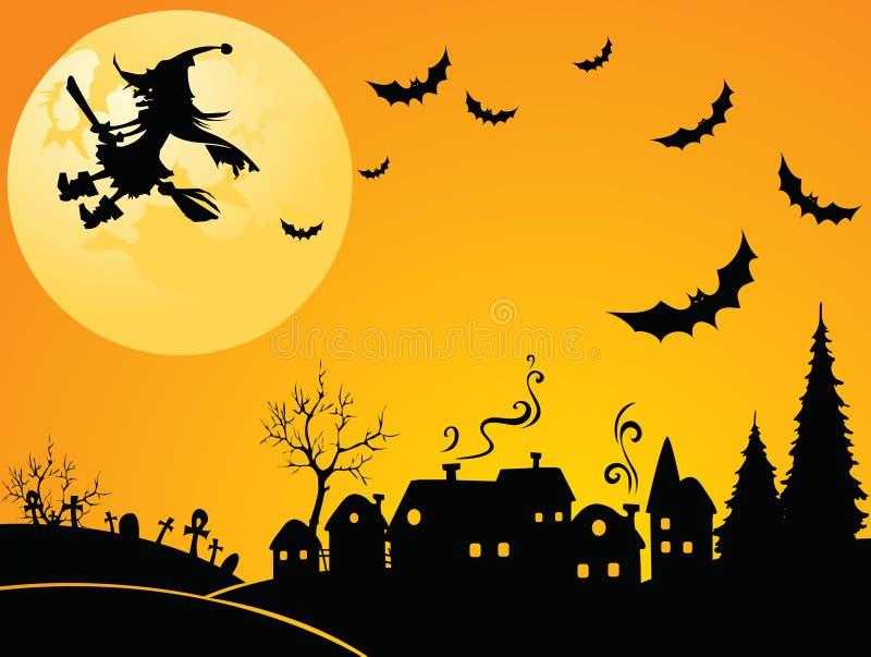 ведьма halloween иллюстрация штока